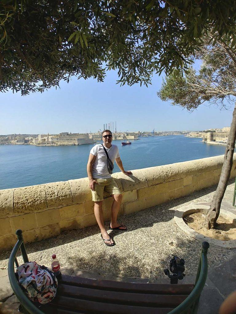 Dolne Ogrody Barrakka Valletta Malta blog o podróżach