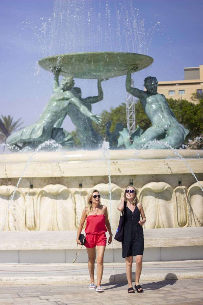 Fontanna Trytona Valletta co zwiedzić na Malcie