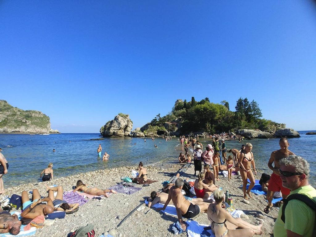 Isola Bella plaża w Taorminie