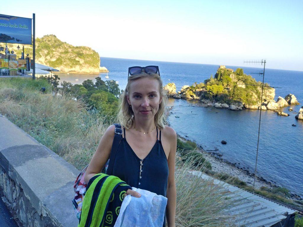 Widok na Isola Bella - Taormina atrakcje