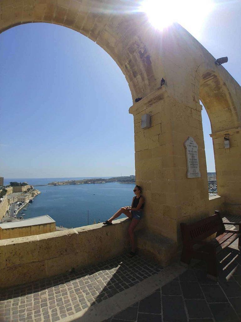 Valletta Malta Górne Ogrody Barrakka blog podróżniczy