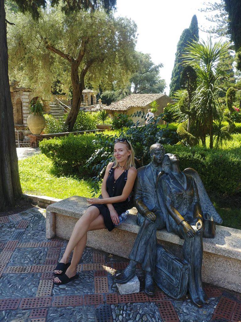 Ogród publiczny w Taorminie na Sycylii