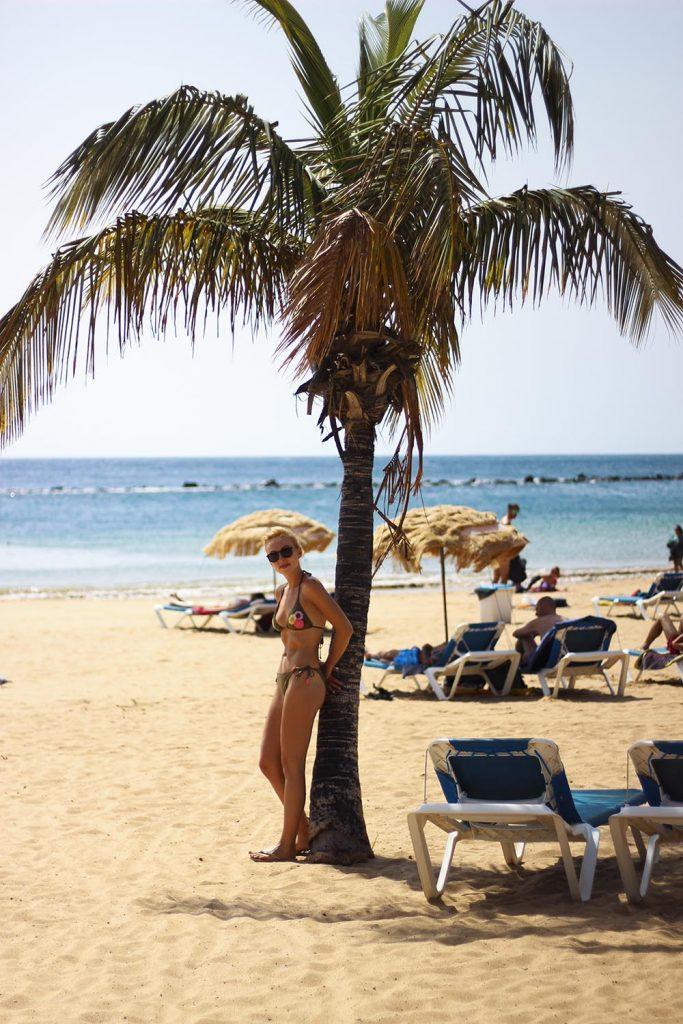 Teneryfa plaża Playa de las Teresitas