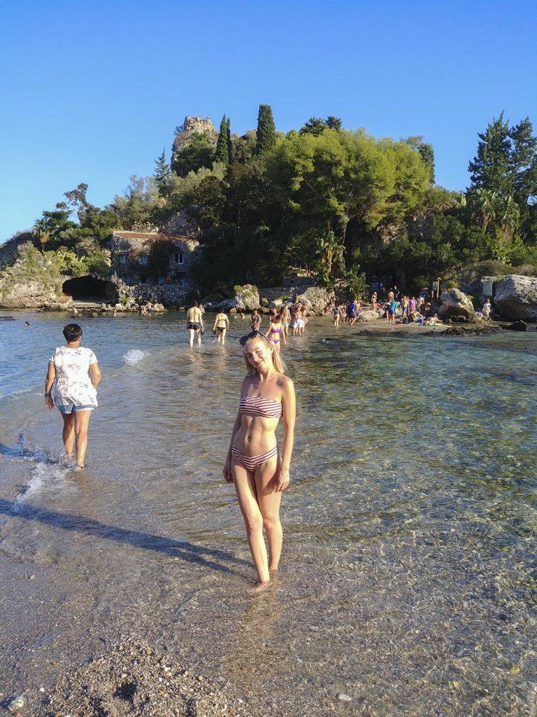 Plaża w Taorminie Isola Bella