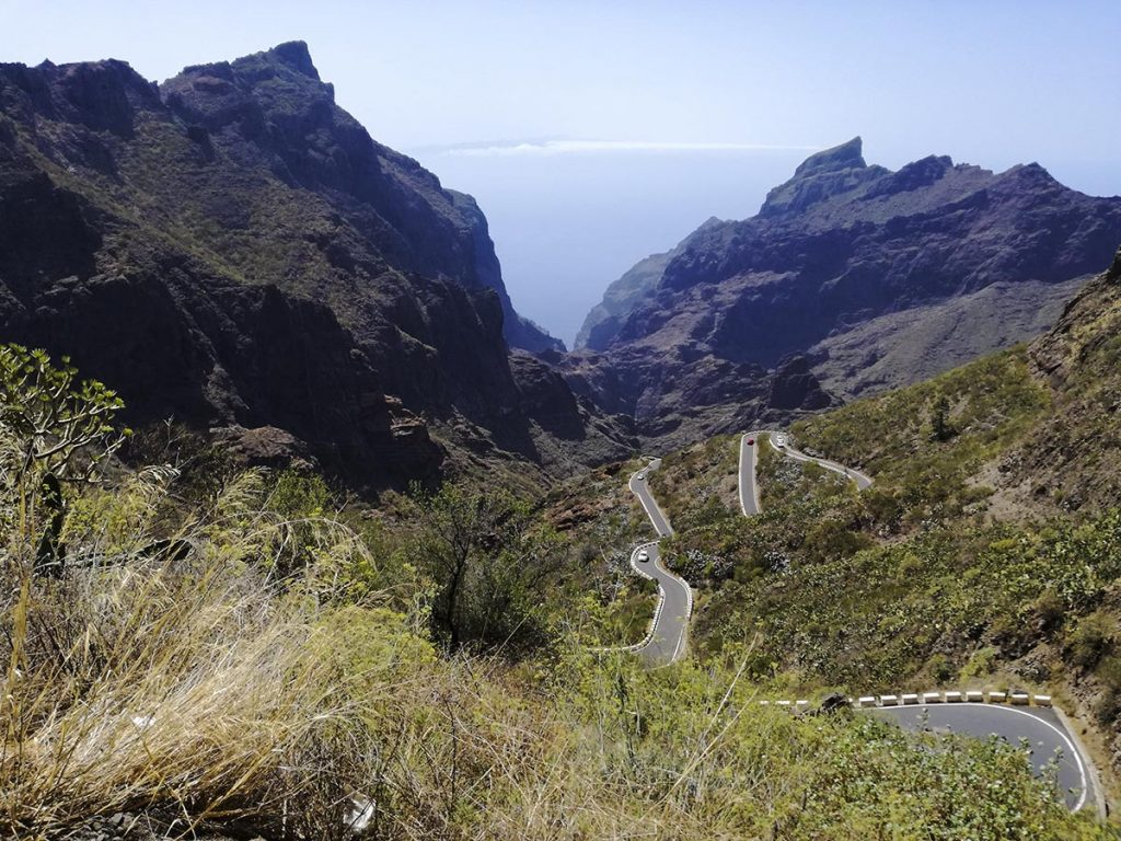 Droga do miejscowości i wąwozu Masca na Teneryfie