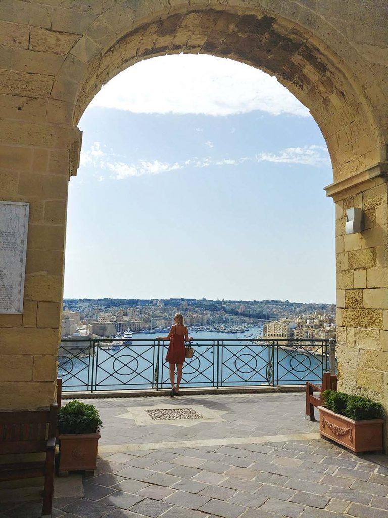 Górne Ogrody Barrakka Valletta Malta