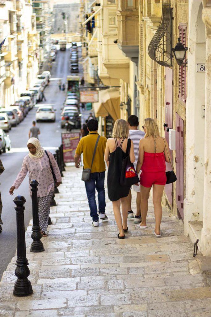 Valletta Malta ulice miasta