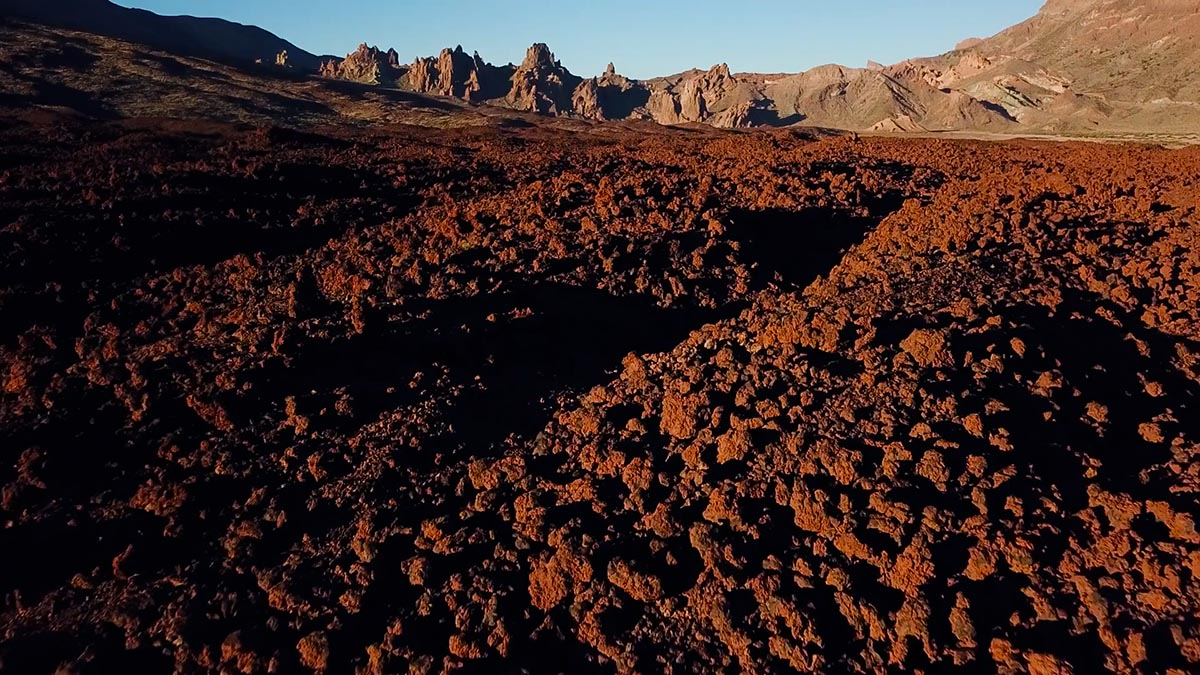 Wulkan Teide Teneryfa zastygła lawa