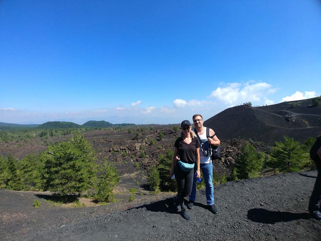 Etna wulkan wycieczka Jeepami