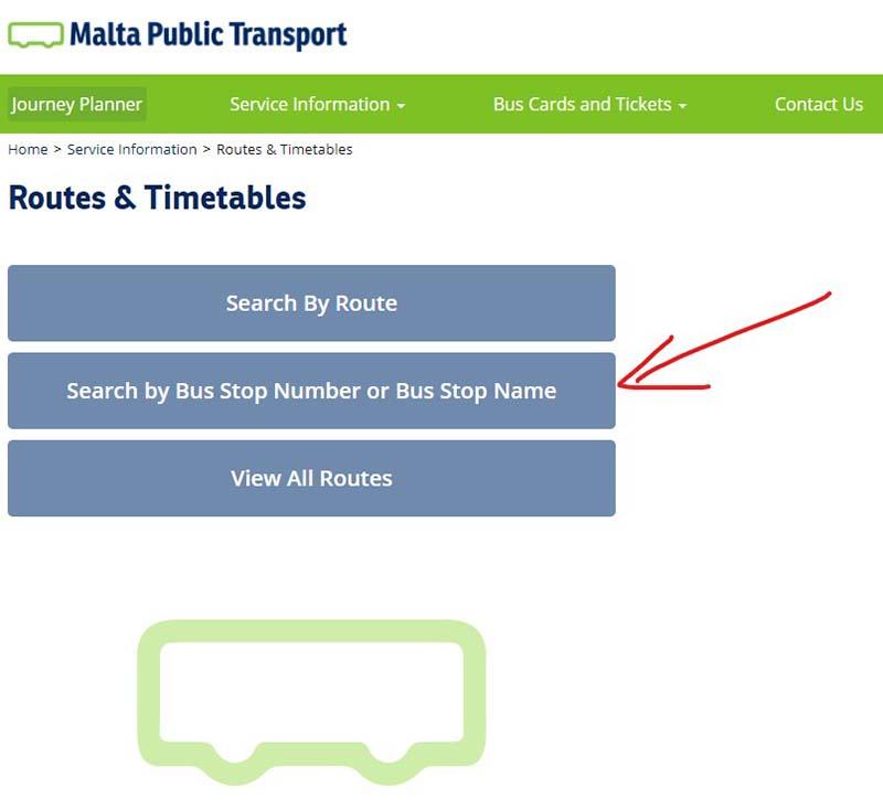 Malta szukanie tras publicznych autobusów