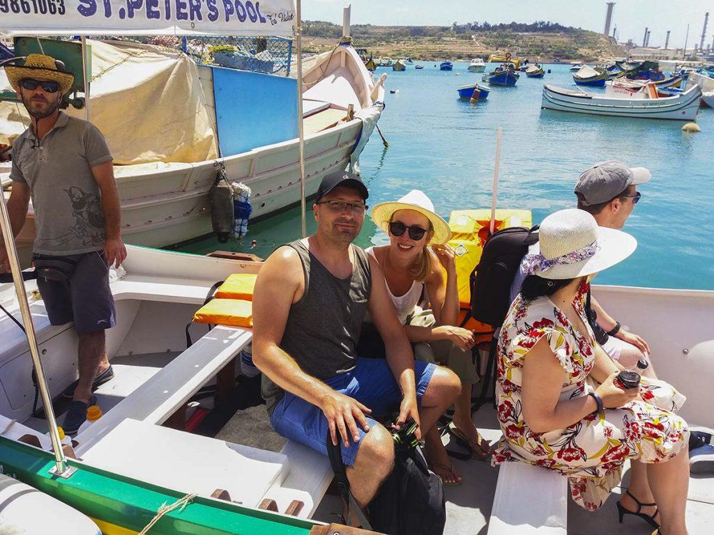 Marsaxlokk rejs łódką na St. Peter's Pool Malta