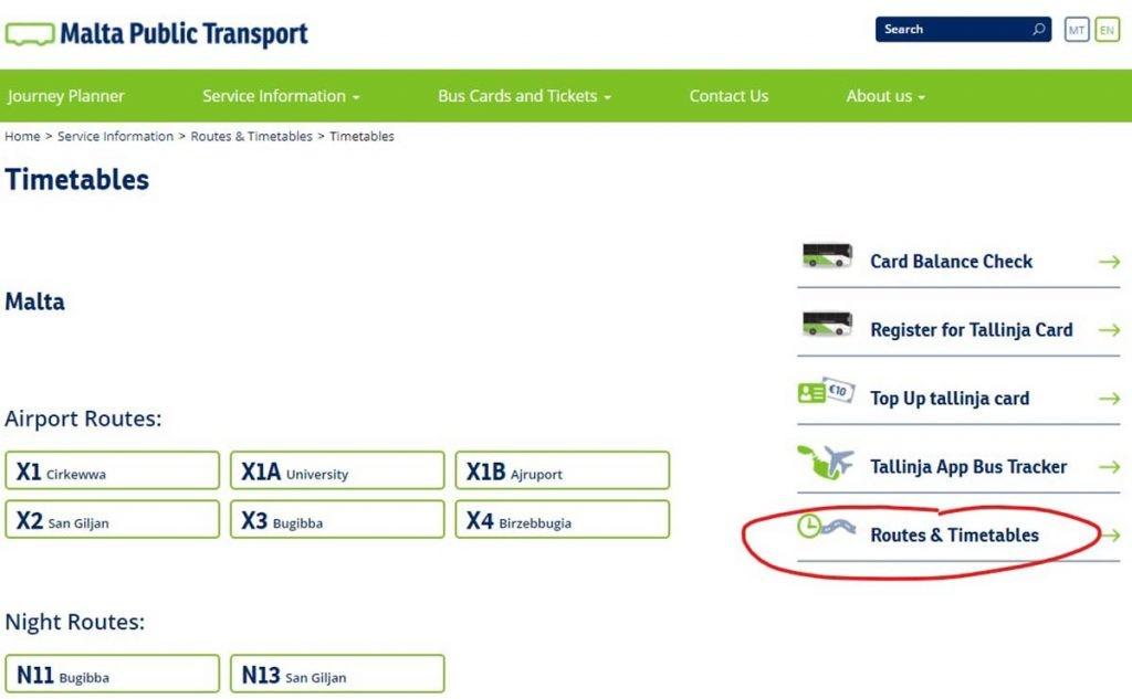 Malta transport z lotniska autobusem