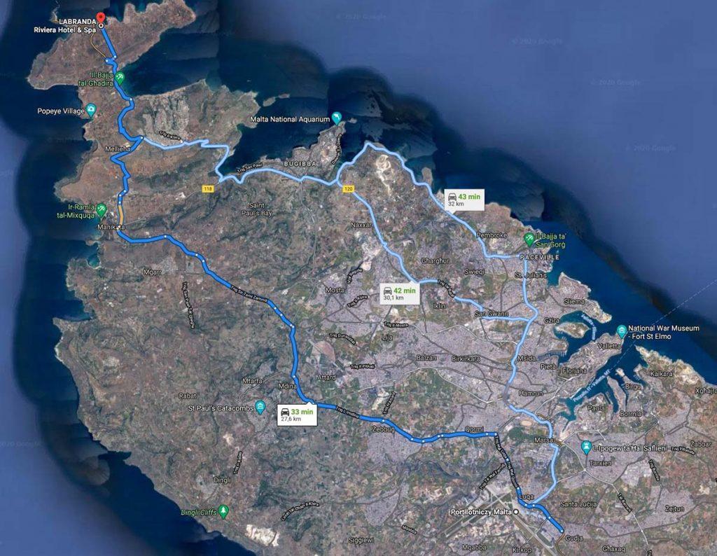Malta tanie taxi z lotniska lub na lotnisko