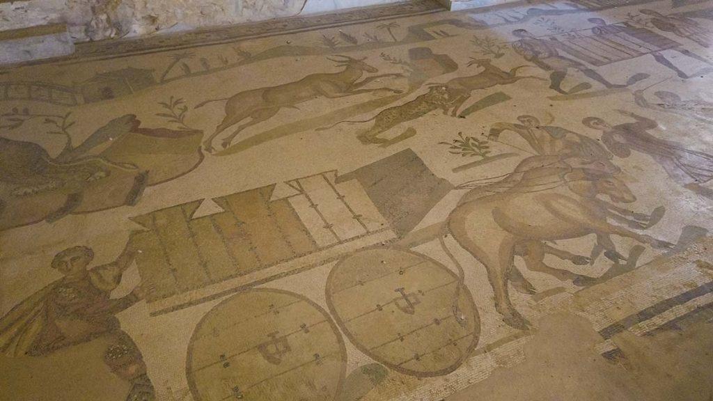 Mozaiki na podłodze w Villa Romana Sycylia