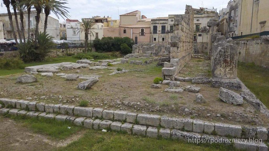 Świątynia Apolla Ortygia Syrakuzy Sycylia wschodnia