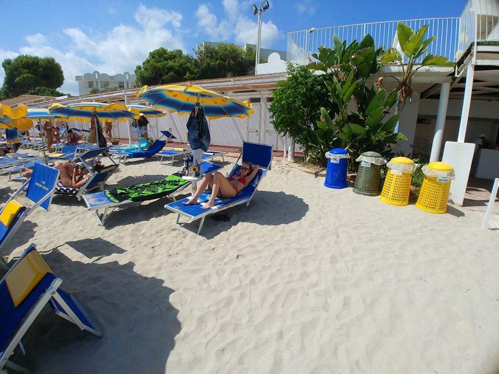Piaszczyste plaże na Sycylii Fontane Bianche