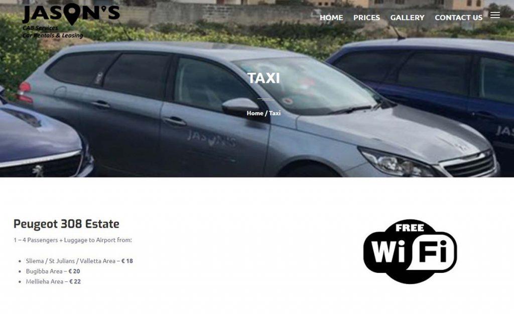 Malta transport z lotniska do hotelu taxi