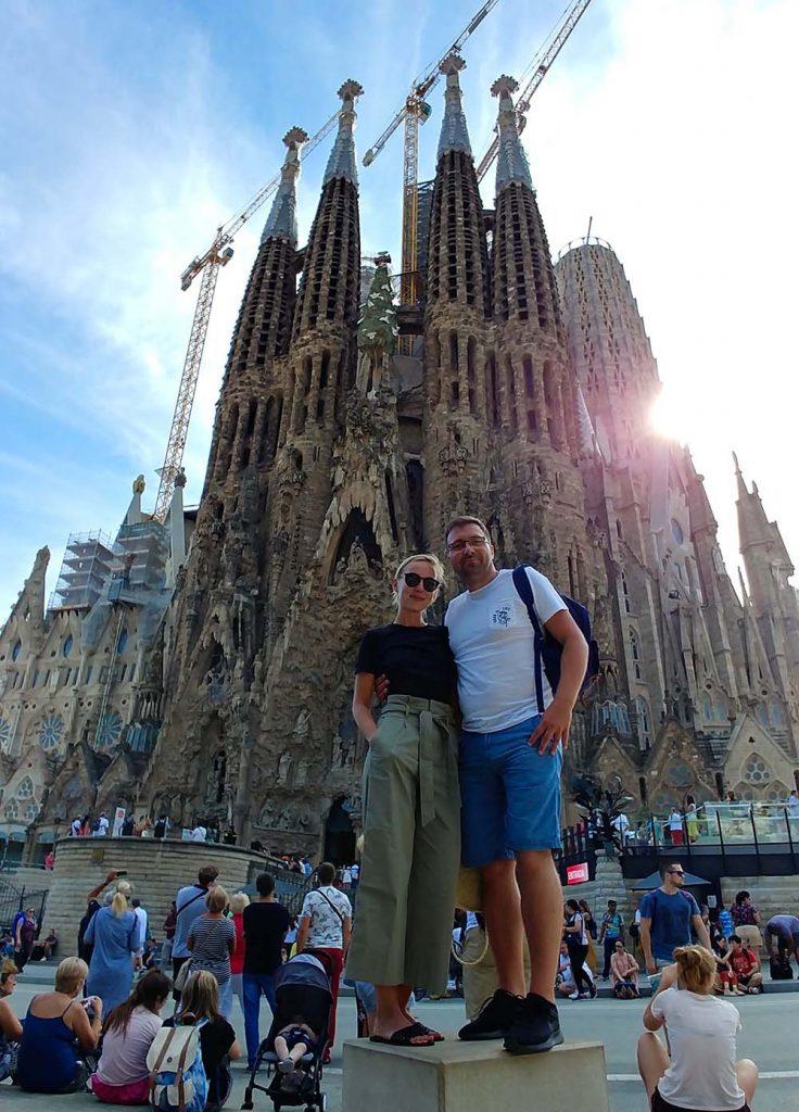 Barcelona i jedna z głównych atrakcji miasta Sagrada Familia