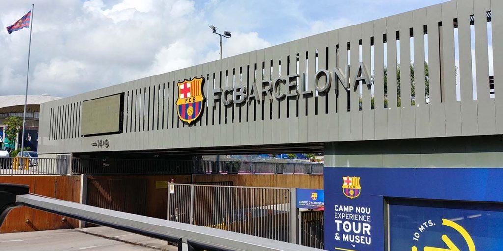 Barcelona stadion Camp Nou wejście