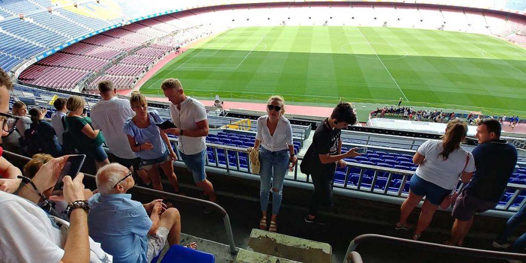 Barcelona stadion piłkarski jako jedna z atrakcji miasta