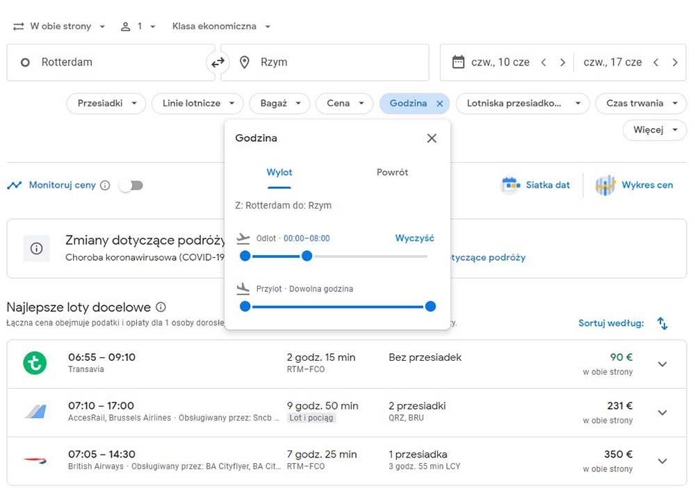 Google Loty filtrowanie wyników wyszukiwania