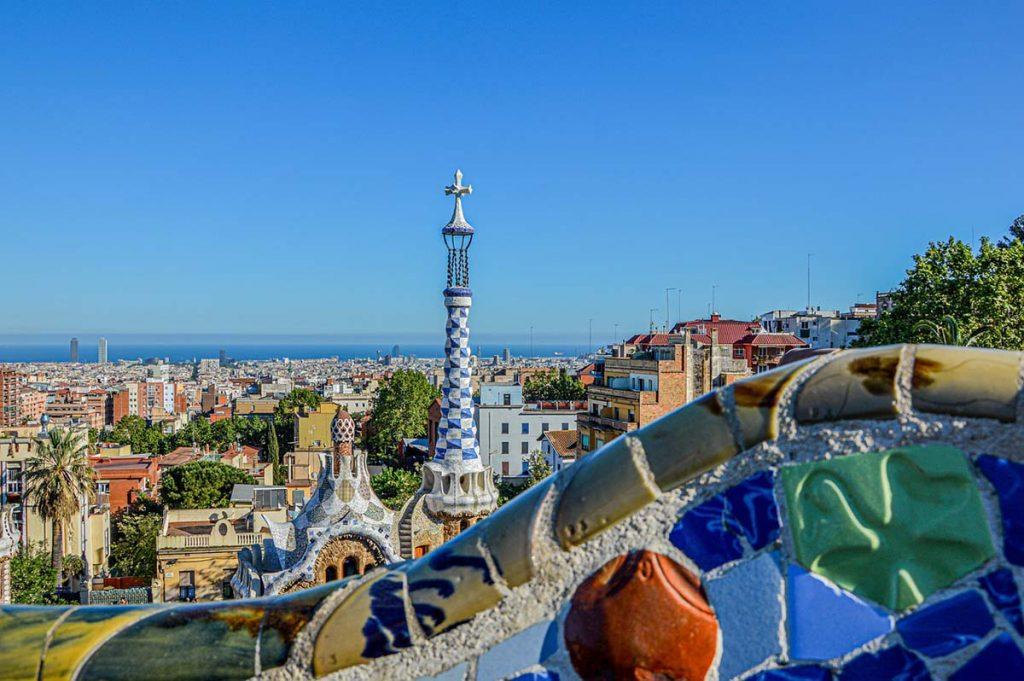 Barcelona Park Guell Antoniego Gaudi