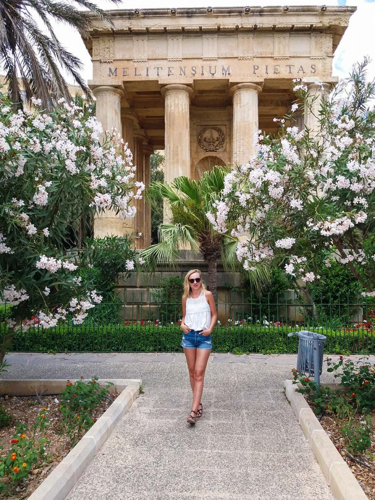 Valletta Malta Dolne Ogrody Barrakka