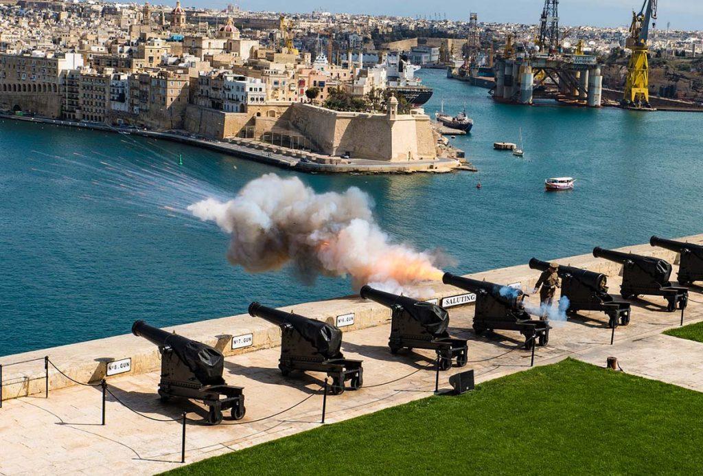 Górne Ogrody Barrakka w Valletcie - Malta city break
