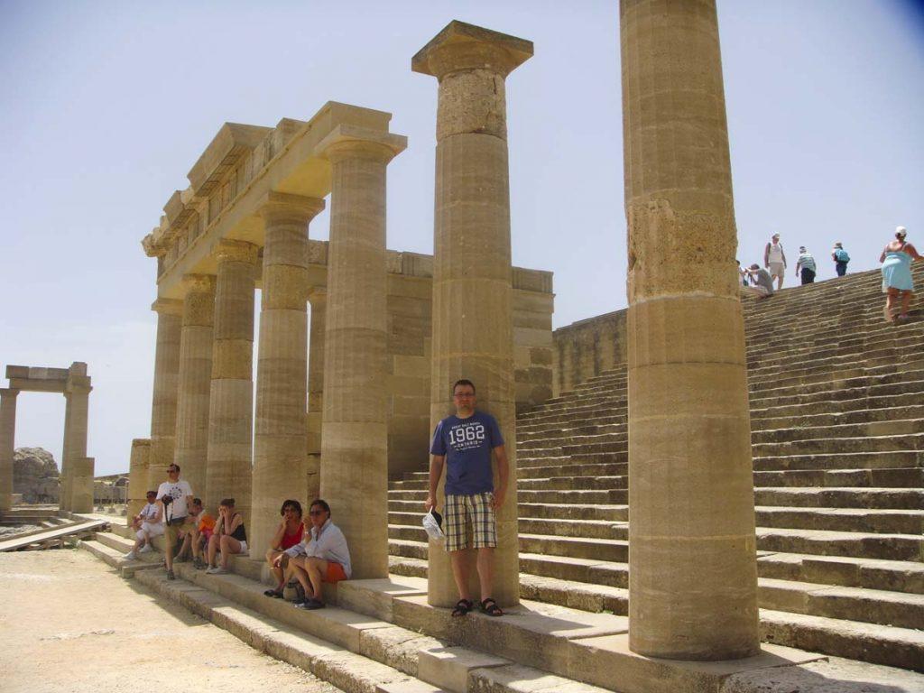 Świątynia Ateny Lindos Rodos zwiedzanie blog podróżniczy Grecja