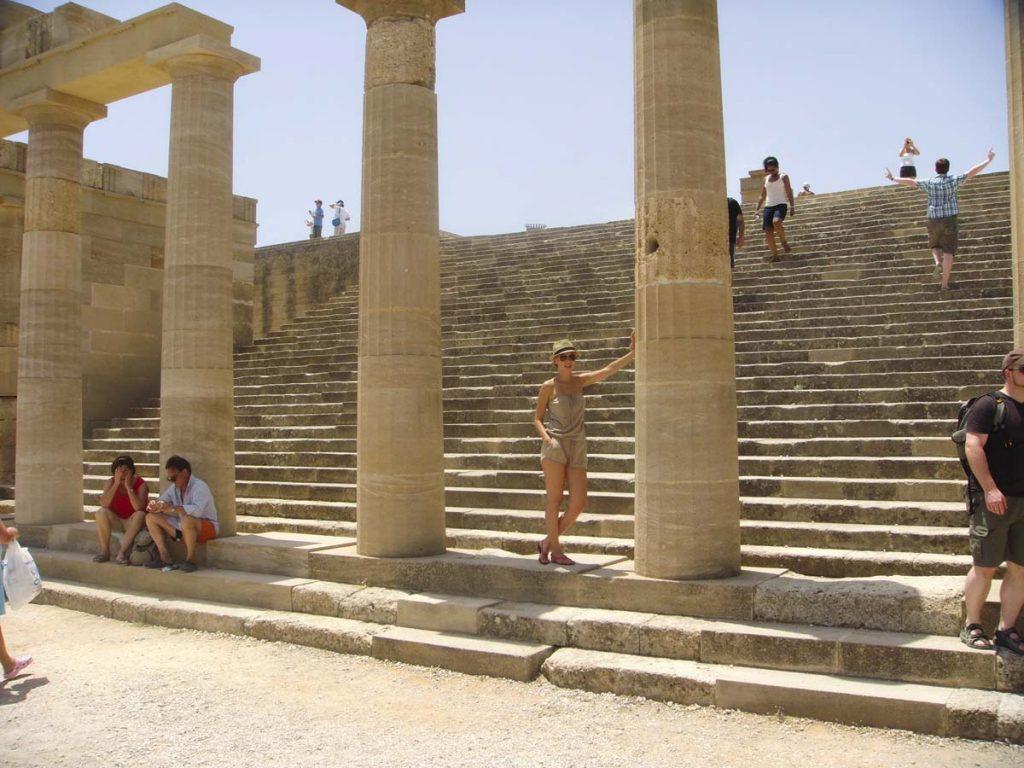 Świątynia Ateny Lindos atrakcje wyspy Rodos