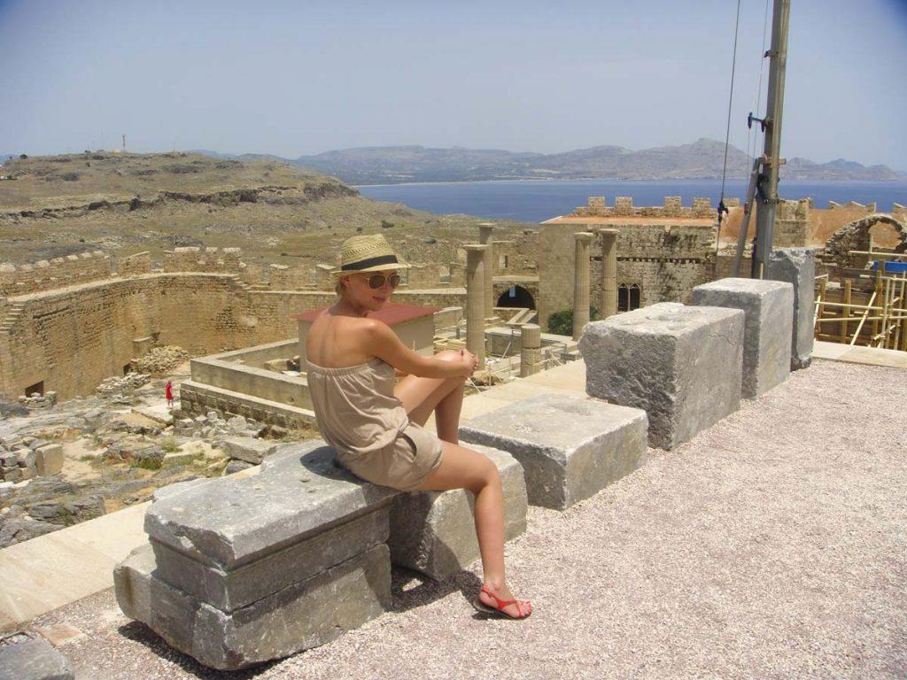 Świątynia Ateny w Lindos Rodos Grecja wakacje