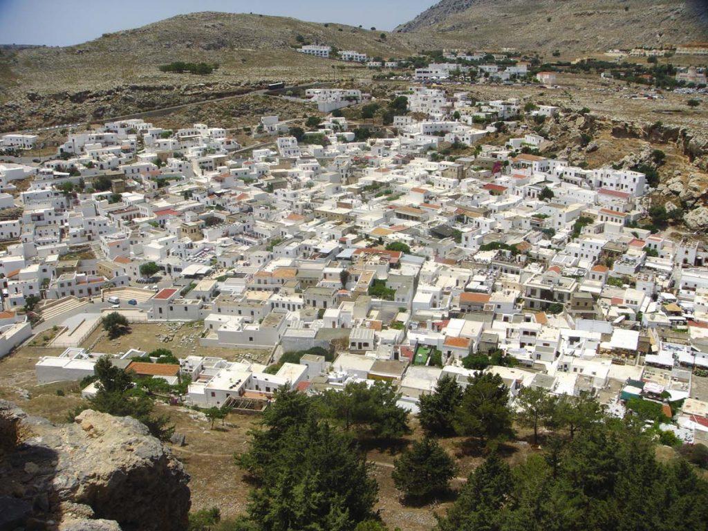 Miasto Lindos Rodos atrakcje wyspy Grecja