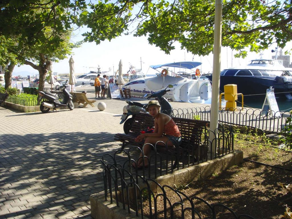 rodos grecja port Rodos wakacje