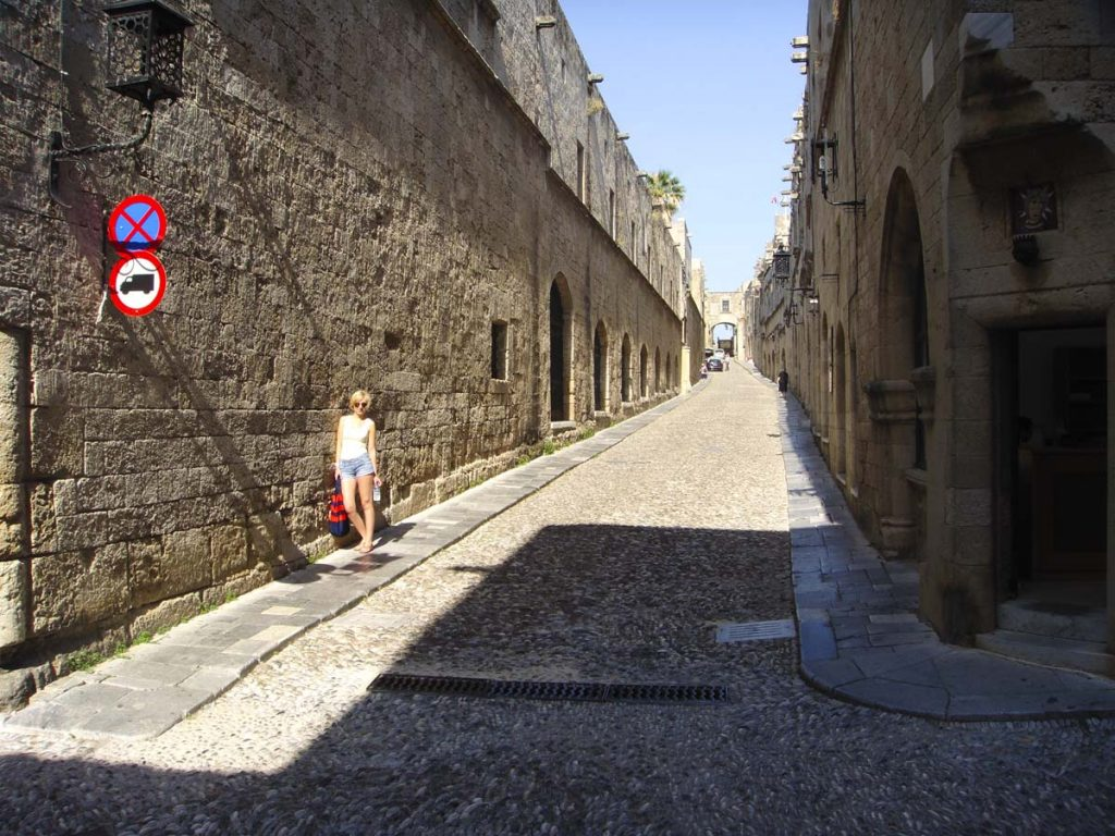 stare miasto rodos stolica wyspy grecja Rodos wakacje