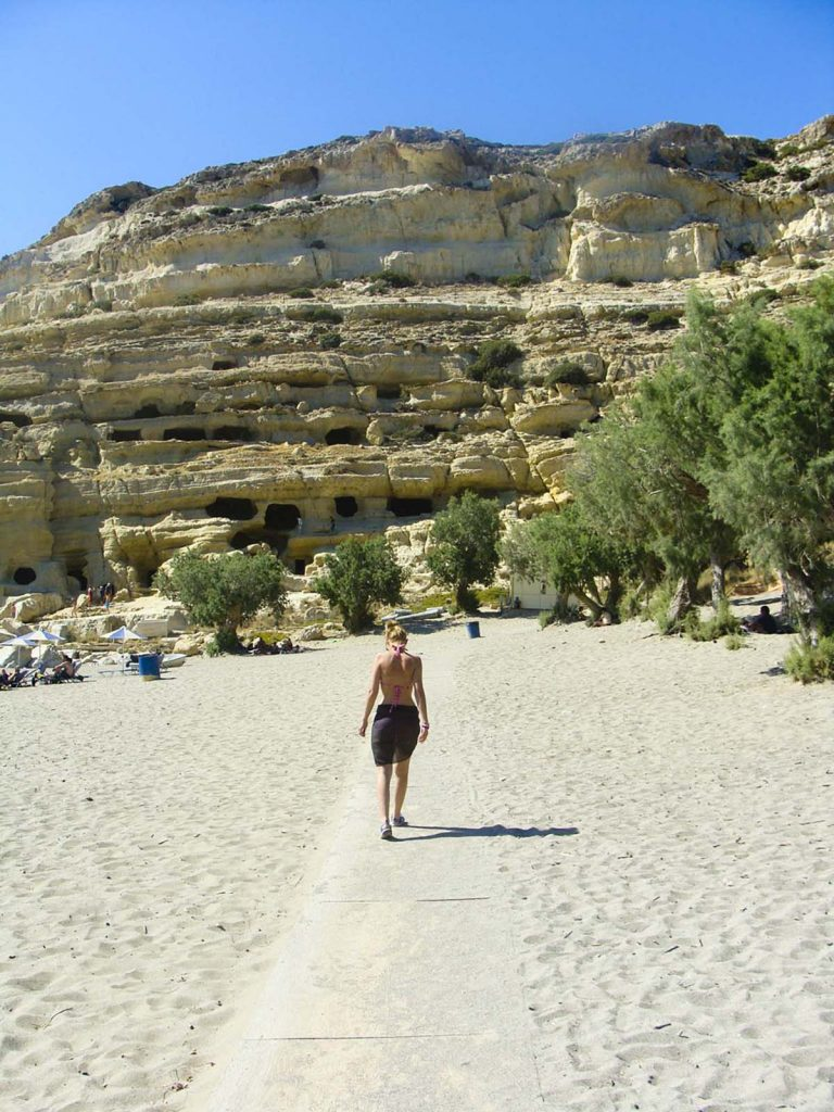 grecja kreta plaza matala podrozniczy blog greckie wyspy