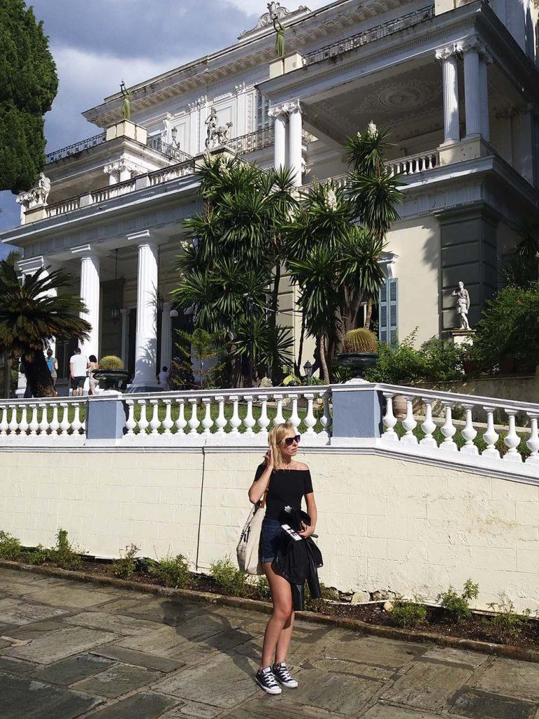 korfu palac sisi zwiedzanie blog podrozniczy greckie wyspy