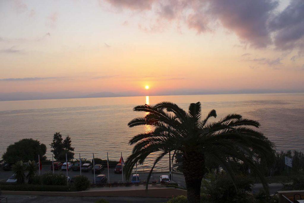 korfu widok z hotelu wakacje greckie wyspy greckie wyspy