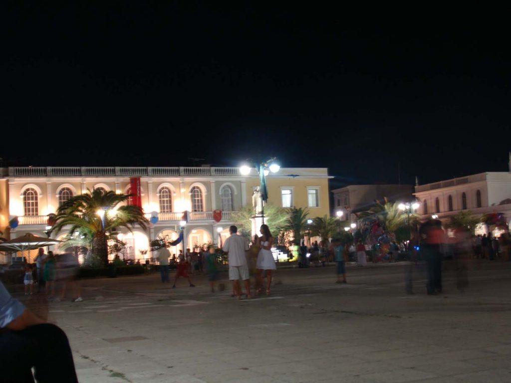 miasto zakynthos noc wyspy greckie greckie wyspy