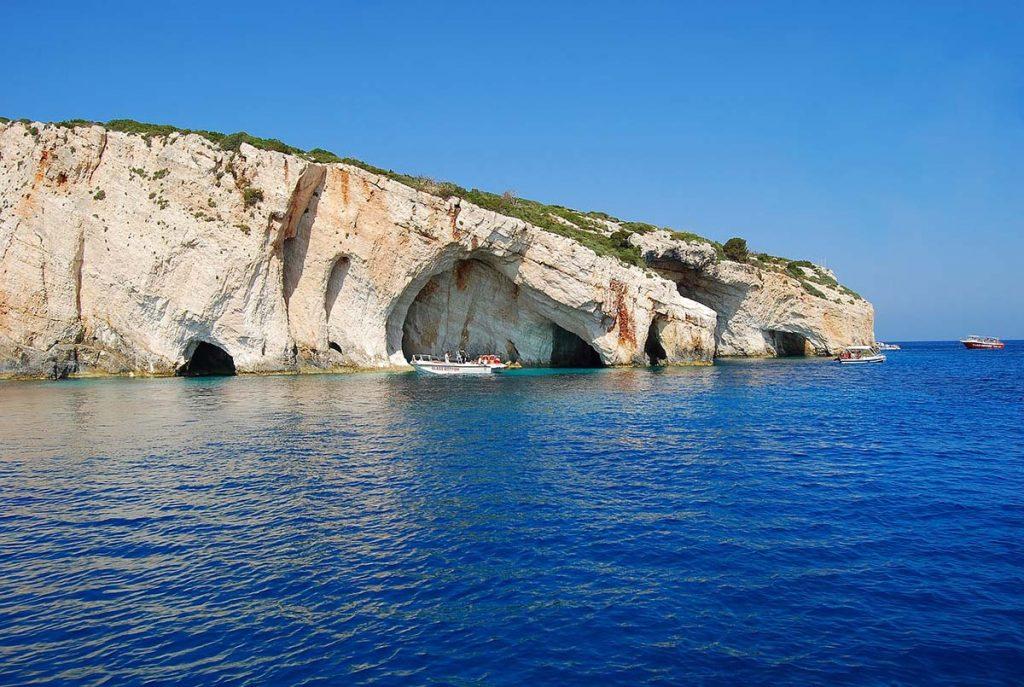 wyspa zakynthos jaskinie klify greckie wyspy
