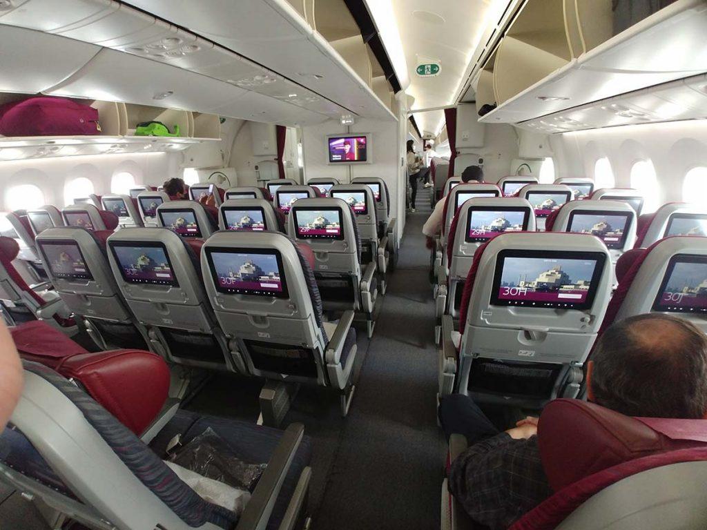 Samolot Qatar Airways na Zanzibar Tanzania
