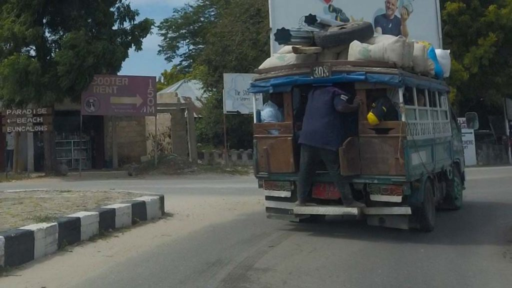Dala Dala ceny transportu na Zanzibarze