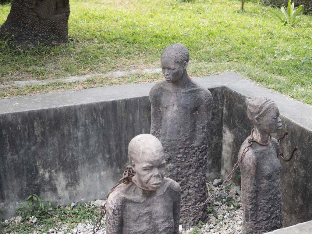 Pomnik upamiętniający niewolnictwo w Stone Town na Zanzibarze