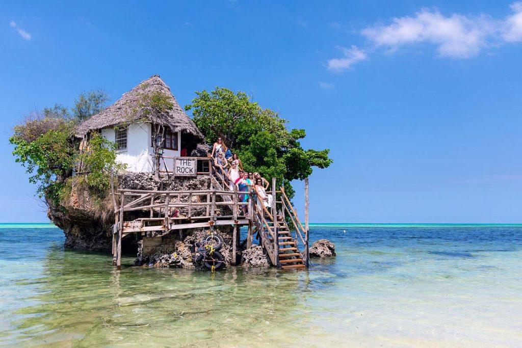 Zanzibar restauracja The Rock - jedzenie i ceny na Zanzibarze