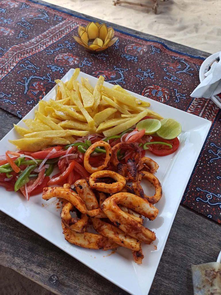 kalmary zanzibar jambiani yellow card cafe Zanzibar ceny