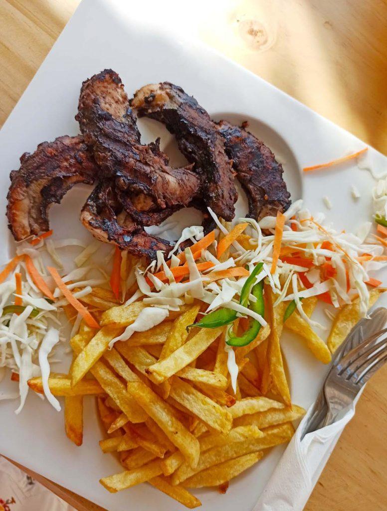 zanzibar grilowana osmiornica restauraca mj nungwi Zanzibar ceny