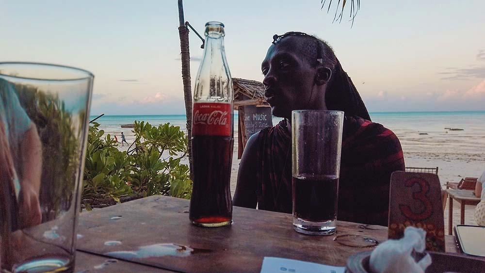 Masaj Omama którego poznaliśmy na Zanzibarze